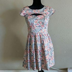 Lauren Conrad Floral Cut Out Dress